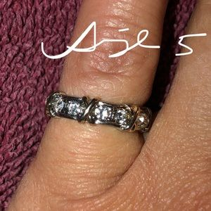 X's and O's White Gold Eternity Band